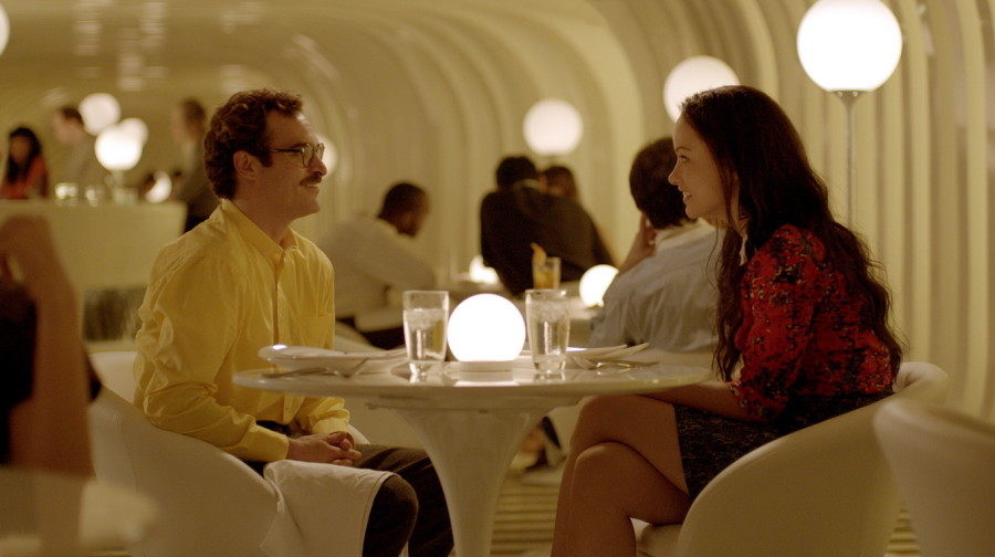 Her 2013 by Spike Jonze scene Joaquin Phoenix inside the ZeBar designed by 3GATTI